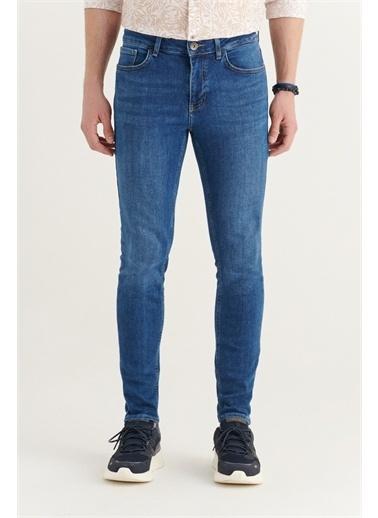 Avva Erkek Skinny Fit Jean Pantolon A11Y3552 Mavi